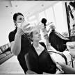 zdjęcia z przygotowań u fryzjera
