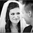 radość fotografia ślubna podczas ceremonii