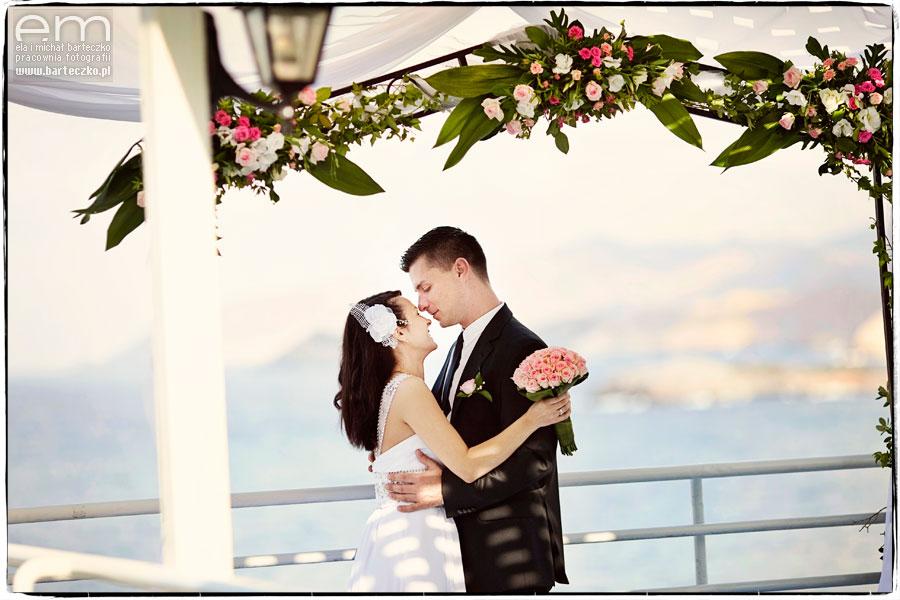 ślub zwidokiem namorze