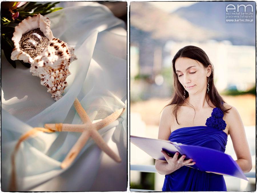 ceremonia ślubna nad morzem