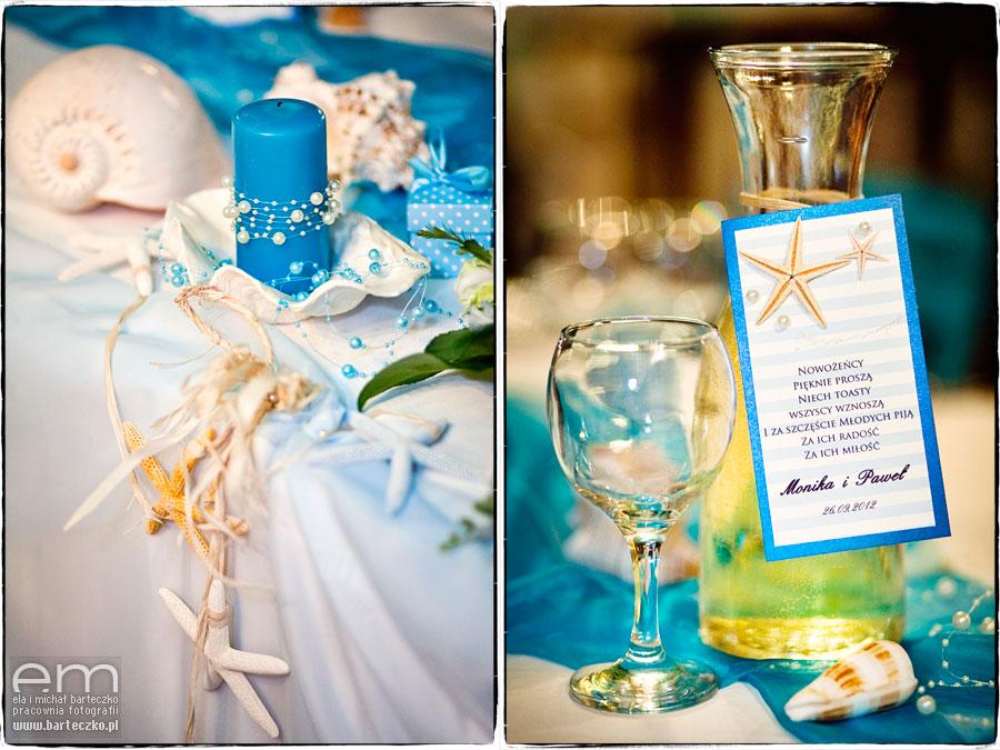 niebieski kolor na weselu
