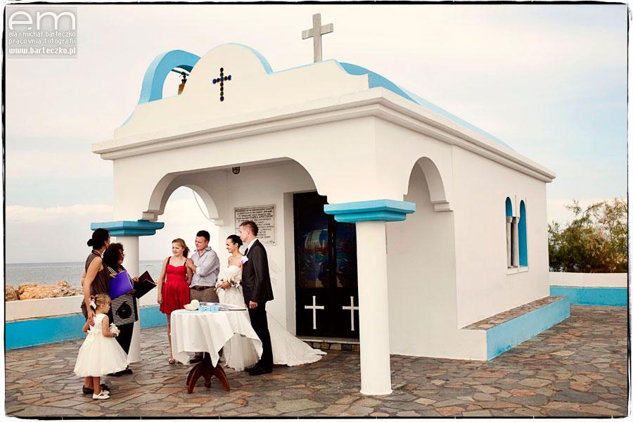ślub nad morzem śróddziemnym