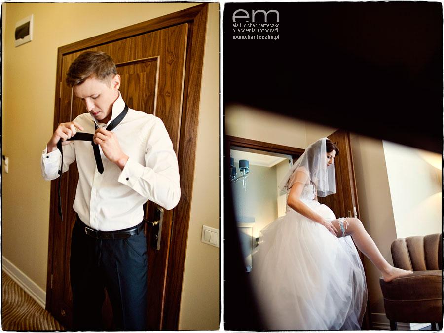 niebieska podwiązka do ślubu