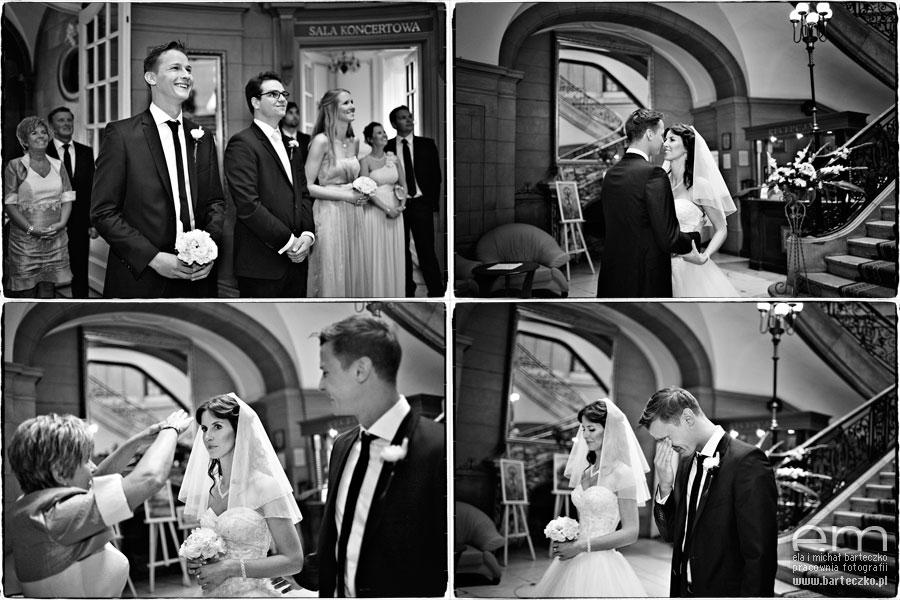 wzruszający moment w dniu ślubu