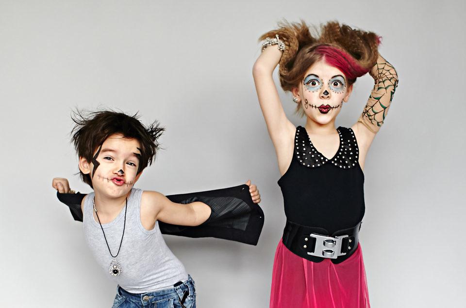 Zdjęcia dzieci, zwariowane Monster Kids