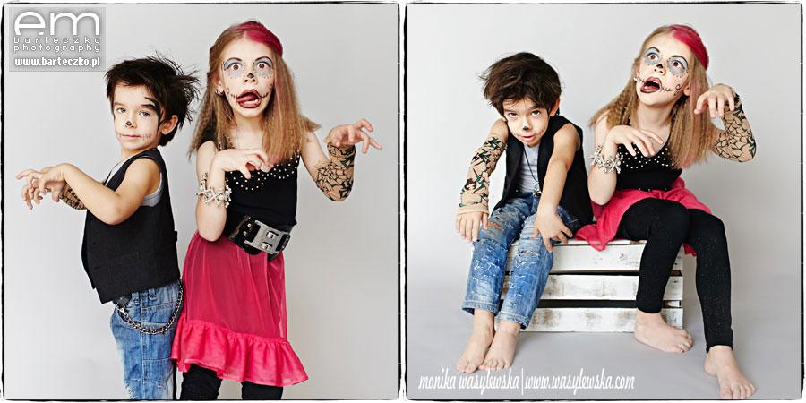 Zdjęcia dzieci, zwariowane Monster Kids 2