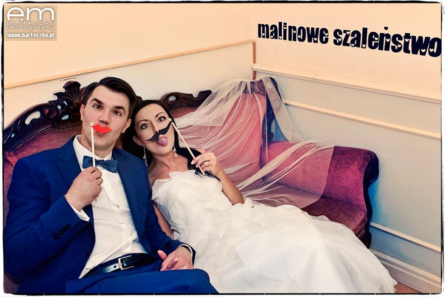 zwariowany plener ślubny