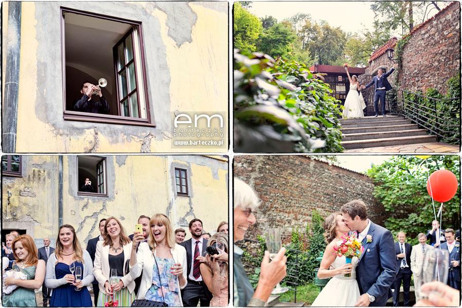 przyjęcie ślubne wogrodzie