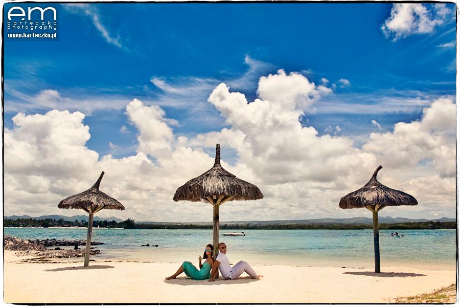 sesja slubna na plazy