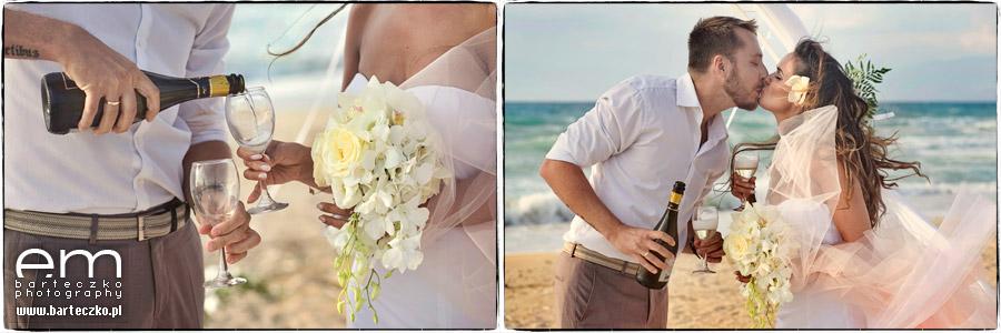 pocalunek na plazy