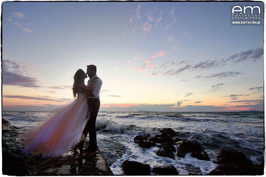 pocalunek nad morzem