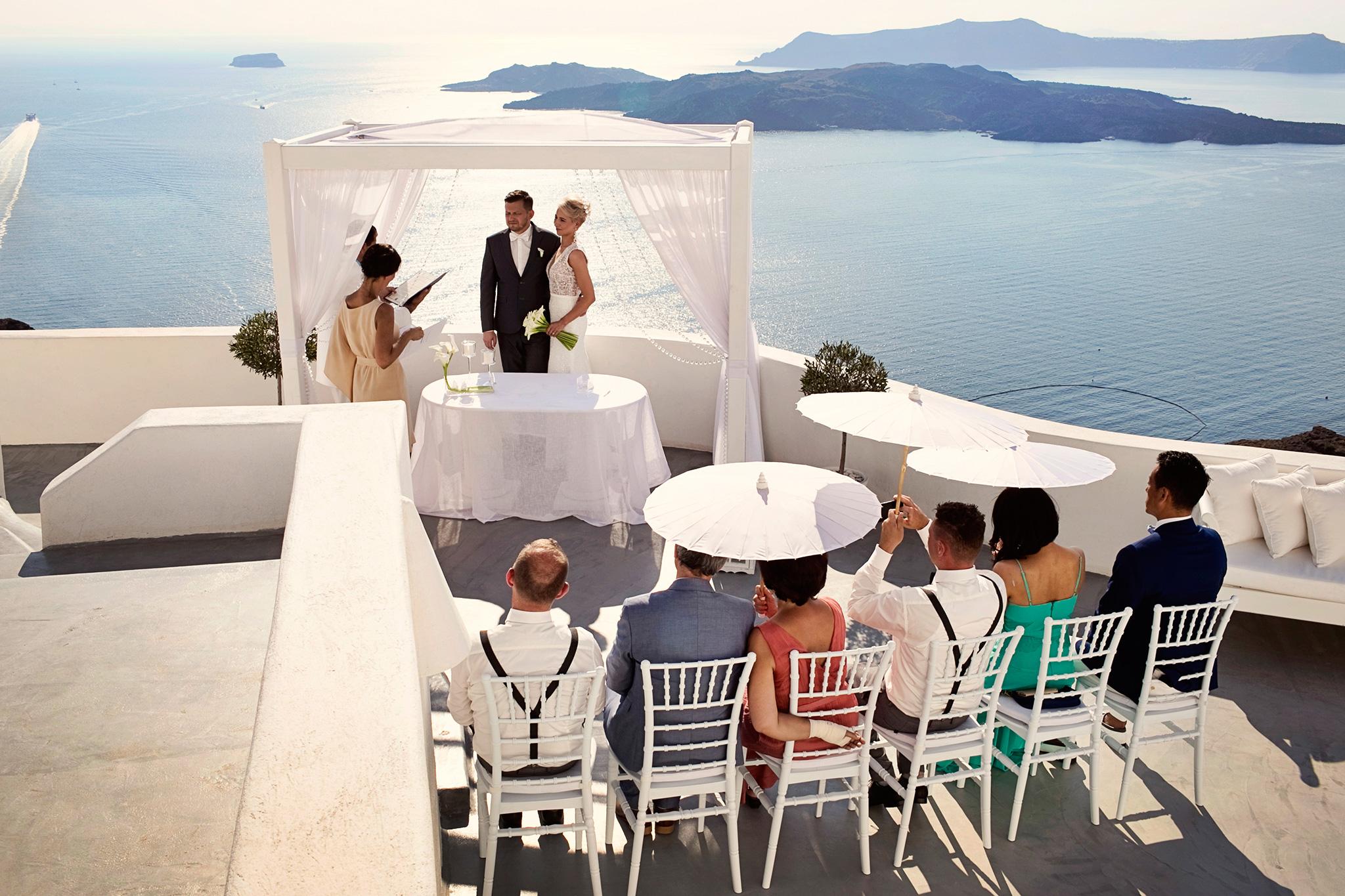 ślub cywilny na Santorini