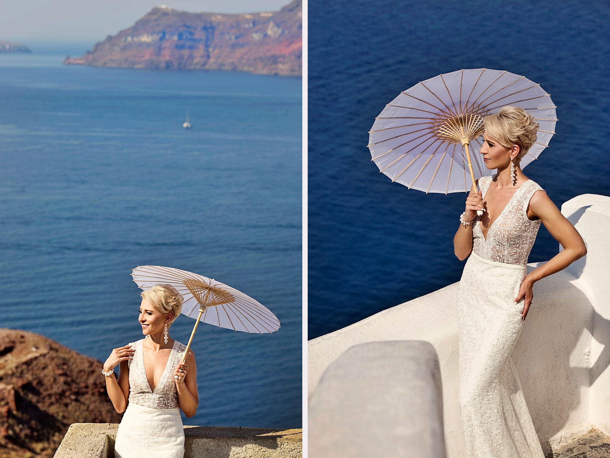 panna młoda na Santorini