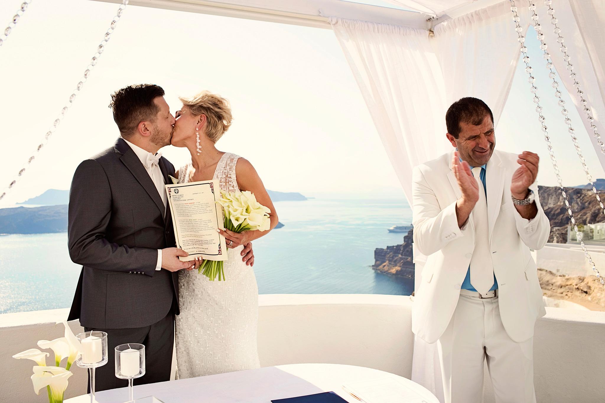 ślub na Cykladach