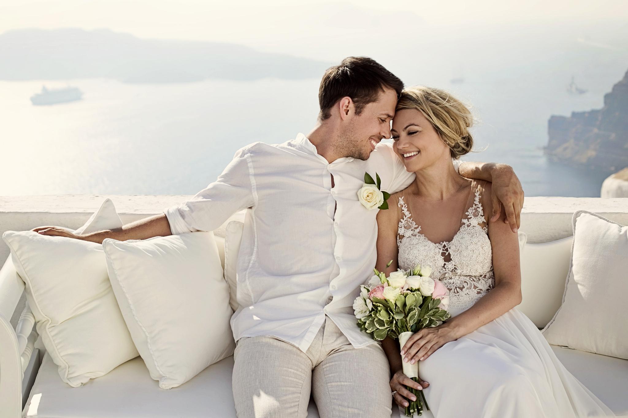 slub na Santorini